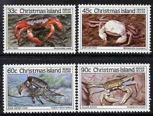 Christmas Island 1985 Crabs - 3rd series perf set of 4 unmounted mint, SG 203-6