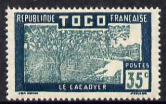 Togo 1924-38 Cocoa Trees 35c green & blue green unmounted mint, SG 71
