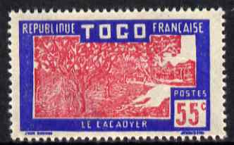 Togo 1924-38 Cocoa Trees 55c carmine & ultramarine unmounted mint, SG 75