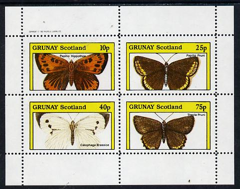 Grunay 1982 Butterflies (Papilio Hippothoe) perf  set of 4 values (10p to 75p) unmounted mint