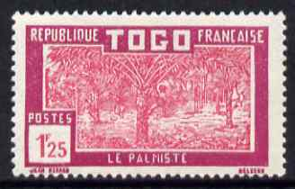 Togo 1924-38 Palm Trees 1f25 rose & magenta unmounted mint, SG 88