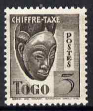 Togo 1940 Postage Due 5c Native Mask unmounted mint unissued without RF similar to SG D151