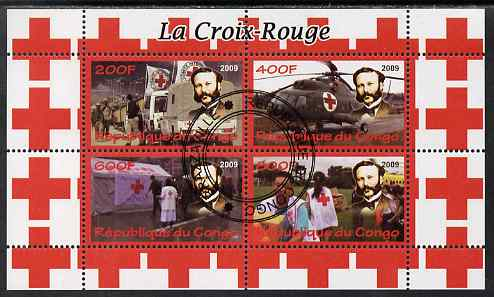Congo 2009 Red Cross perf sheetlet containing 4 values cto used
