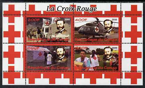 Congo 2009 Red Cross perf sheetlet containing 4 values unmounted mint