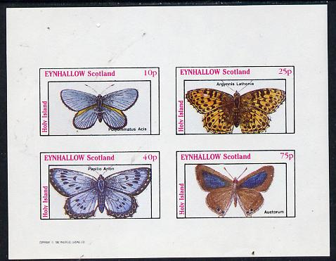 Eynhallow 1982 Butterflies (Polyommatus Acis) imperf  set of 4 values (10p to 75p) unmounted mint