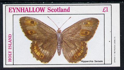 Eynhallow 1982 Butterflies (Hipparchia Semele) imperf souvenir sheet (�1 value) unmounted mint