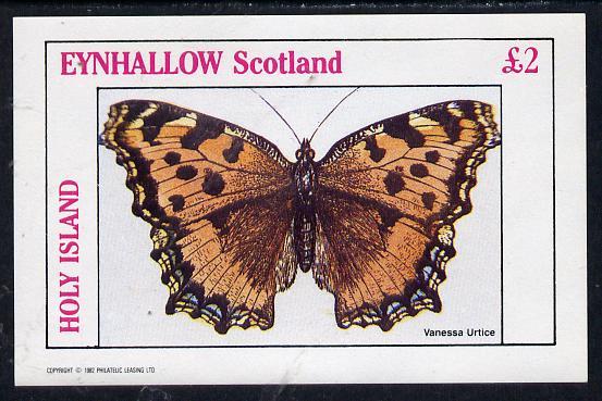 Eynhallow 1982 Butterflies (Vanessa Urtice) imperf deluxe sheet (�2 value) unmounted mint