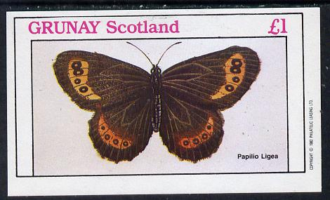 Grunay 1982 Butterflies (Papilio Ligea) imperf souvenir sheet (�1 value) unmounted mint