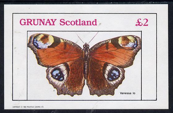 Grunay 1982 Butterflies (Vanessa Lo) imperf deluxe sheet (�2 value) unmounted mint