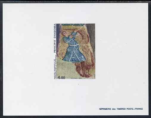 Andorra - French 1983 Romanesque Art 4f Epreuves de luxe card in issued colours as SG F354