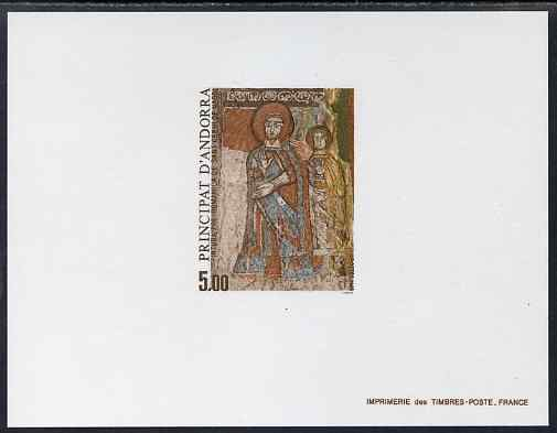 Andorra - French 1985 Pre-Romanesque Art 5f Epreuves de luxe card in issued colours as SG F370