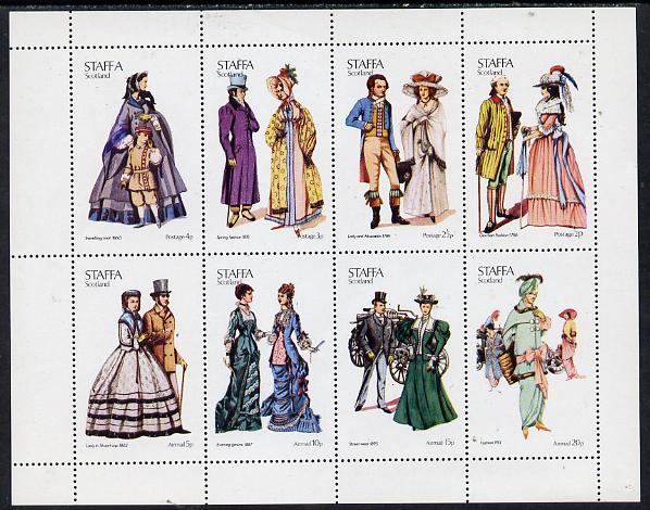 Staffa 1974 Costumes perf  set of 8 values (0.5p to 20p) unmounted mint