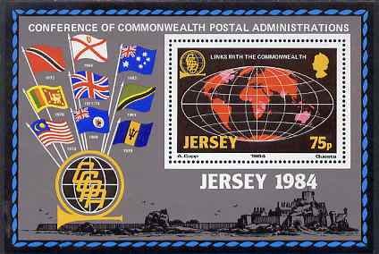 Jersey 1984 Links with the Commonwealth perf m/sheet unmounted mint, SG MS 333