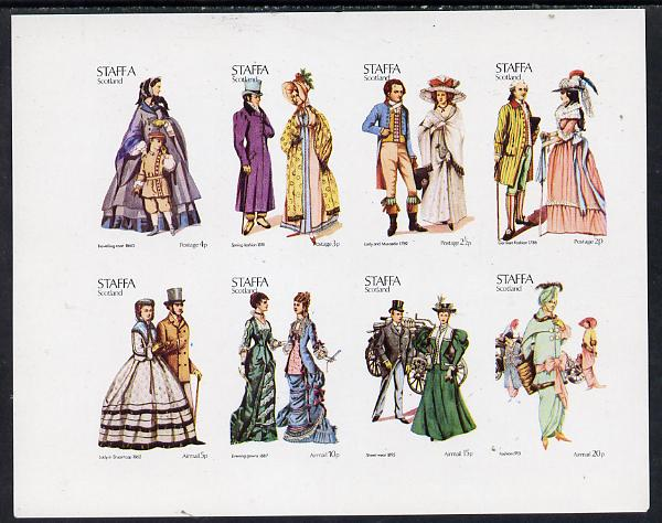 Staffa 1974 Costumes imperf  set of 8 values (0.5p to 20p) unmounted mint