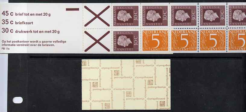 Booklet - Netherlands 1974 Numeral & Juliana 2g booklet complete and fine SG SB78