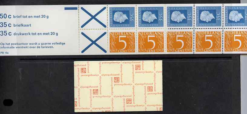Booklet - Netherlands 1975 Numeral & Juliana 2g booklet complete and fine SG SB79