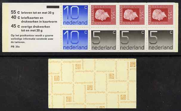 Booklet - Netherlands 1976 Numeral & Juliana 2g booklet complete and fine SG SB81
