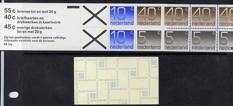Booklet - Netherlands 1976 Numerals 2g booklet complete and fine SG SB82