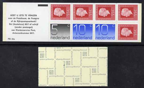 Booklet - Netherlands 1976 Numeral & Juliana 3g booklet complete and fine SG SB83