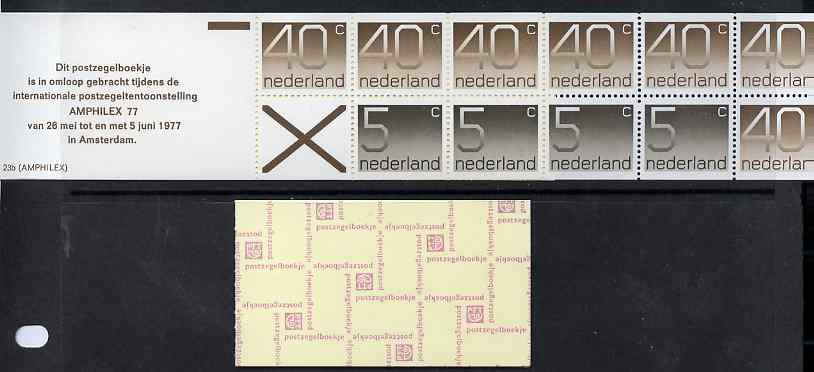 Booklet - Netherlands 1976 Numerals 3g booklet complete and fine SG SB84