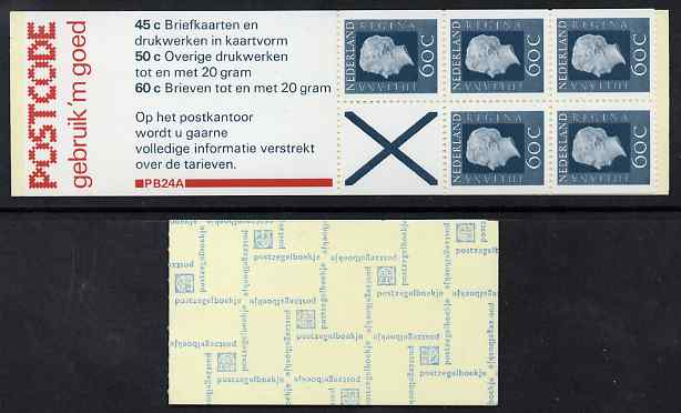 Booklet - Netherlands 1980 Juliana 3g booklet complete and fine SG SB85