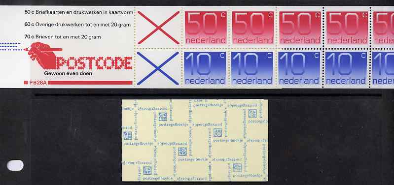 Booklet - Netherlands 1982 Numerals 3g booklet complete and fine SG SB89