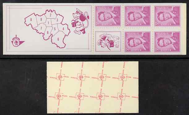 Booklet - Belgium 1969 King Baudouin 20f booklet complete and fine SG SB36