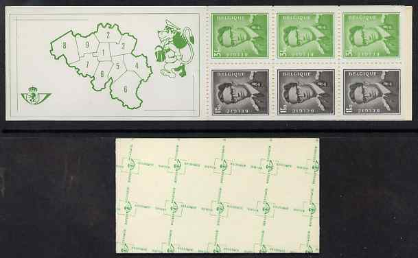 Booklet - Belgium 1970 King Baudouin 20f booklet complete and fine SG SB39