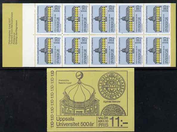 Booklet - Sweden 1977 Uppsala University 11k booklet complete and fine, SG SB318