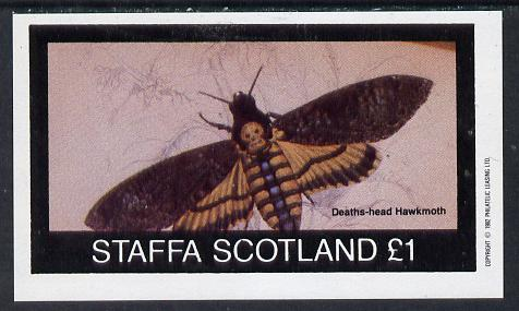 Staffa 1982 Bees (Hawkmoth) imperf souvenir sheet (�1 value) unmounted mint