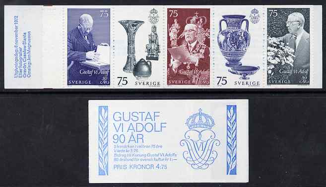 Booklet - Sweden 1972 King's 90th Birthday 4k75 booklet complete and fine, SG SB279