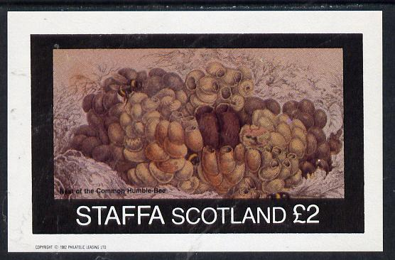 Staffa 1982 Bees (Nest of Bumble Bee) imperf deluxe sheet (�2 value) unmounted mint