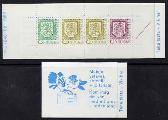 Booklet - Finland 1983 Lion (National Arms) 1m booklet (blue & white cover) complete and fine, SG SB17