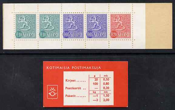 Booklet - Finland 1968 Lion (National Arms) 50p booklet (red cover) complete and fine, SG SB7