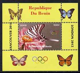 Benin 2009 Butterflies & Olympics #01 individual perf deluxe sheet unmounted mint. Note this item is privately produced and is offered purely on its thematic appeal