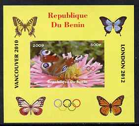 Benin 2009 Butterflies & Olympics #03 individual imperf deluxe sheet unmounted mint. Note this item is privately produced and is offered purely on its thematic appeal
