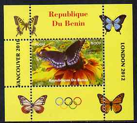 Benin 2009 Butterflies & Olympics #04 individual perf deluxe sheet unmounted mint. Note this item is privately produced and is offered purely on its thematic appeal