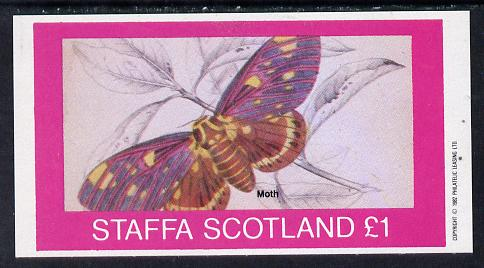 Staffa 1982 Butterflies & Moths (Moth) imperf souvenir sheet (�1 value) unmounted mint