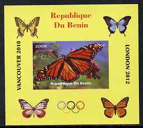 Benin 2009 Butterflies & Olympics #08 individual imperf deluxe sheet unmounted mint. Note this item is privately produced and is offered purely on its thematic appeal