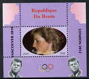 Benin 2009 Princess Diana, Kennedy & Olympics #12 individual perf deluxe sheet, unmounted mint. Note this item is privately produced and is offered purely on its thematic appeal