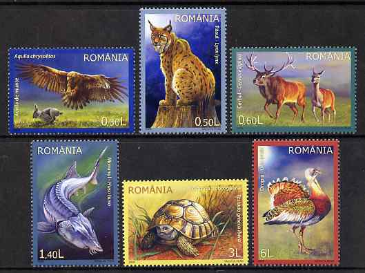 Rumania 2009 Wildlife perf set of 6 unmounted mint