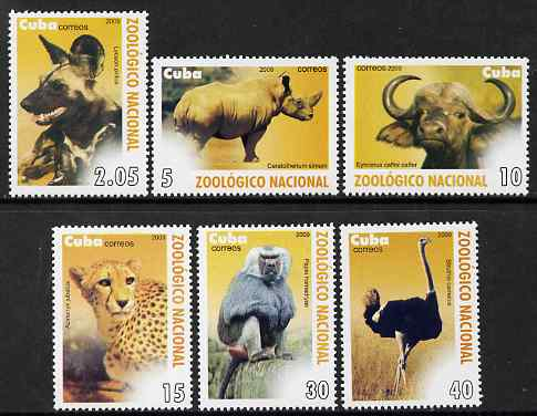 Cuba 2009 National Zoo perf set of 6 unmounted mint