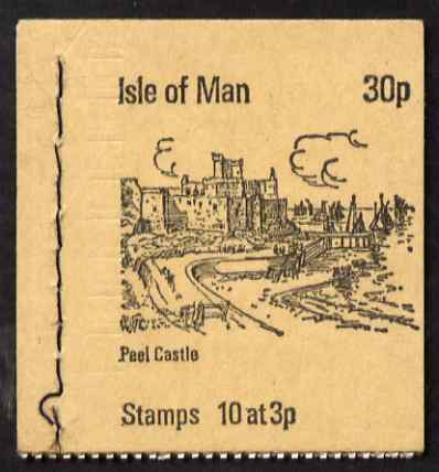 Booklet - Isle of Man 1973 Peel Castle 30p booklet (buff cover) complete and fine, SG SB3a