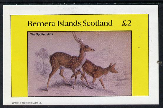 Bernera 1982 Animals (Axis) imperf deluxe sheet (�2 value) unmounted mint