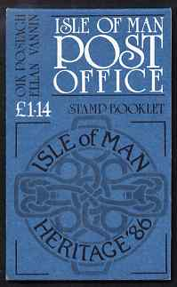 Booklet - Isle of Man 1986 Manx Heritage Year \A31.14 booklet (blue cover) complete and fine, SG SB15