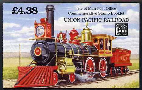 Booklet - Isle of Man 1992 Union Pacific Railroad �4.38 booklet complete and fine, SG SB31