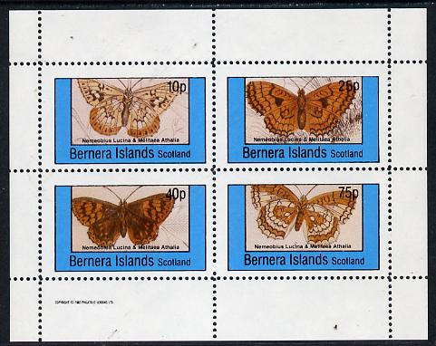 Bernera 1982 Butterflies (Nemeobius L & Melitaea A) perf  set of 4 values (10p to 75p) unmounted mint