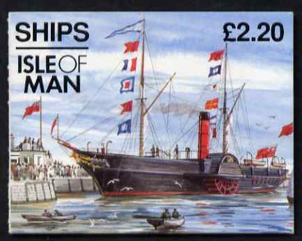 Booklet - Isle of Man 1993 Ships \A32.20 booklet (Tynwald II) complete and fine, SG SB33