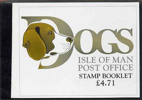 Booklet - Isle of Man 1996 Dogs \A34.71 booklet complete and fine, SG SB43