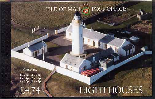 Booklet - Isle of Man 1996 Lighthouses \A34.74 booklet complete and fine, SG SB41